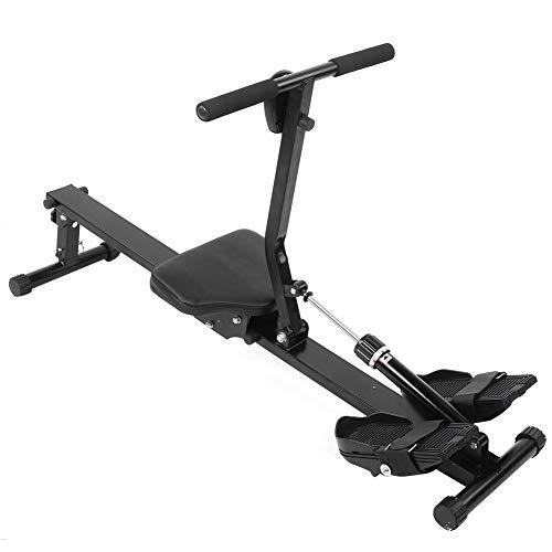 Home Vogatore fitness pieghevole, vogatore Può caricare 120 kg Con un sistema frenante magnetico silenzioso, sedile per canottaggio con cuscinetti a sfera Remo a resistenza regolabile con display LCD