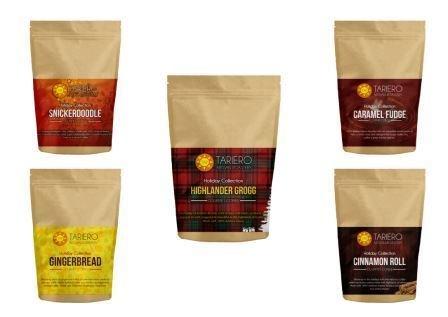 Tariero Artisan Roastery Holiday Coffee -Pack of 5 Gourmet Coffees
