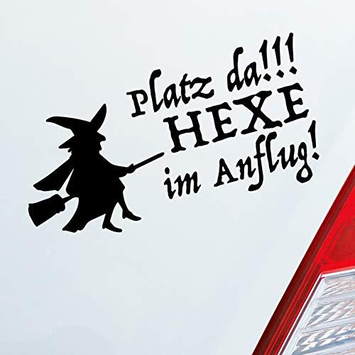Auto Aufkleber in deiner Wunschfarbe Platz da!!! Hexe im Anflug! Girl Dub OEM JDM 10x20 cm Autoaufkleber Sticker