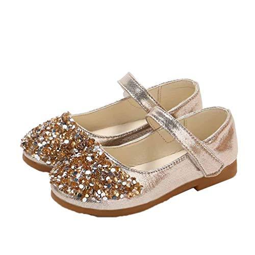 Zapatos de Vestir para niñas Transpirables Informales con Purpurina Zapatos de Princesa...