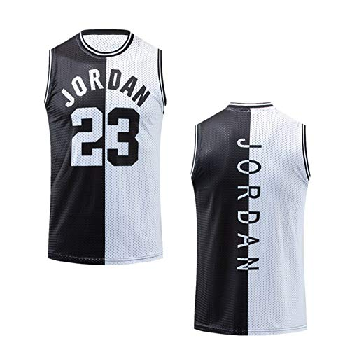 CNMDG Chicago Bulls 23# Michael Jordan Basketball Jersey, Malla de Verano Malla Transpirable Sin Mangas Deporte Fitness Impreso Chaleco (S-XXL) White-L