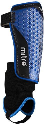 Mitre Aircell Power Ankle Protect Fußballschienbeinschoner, Cyan/White, M