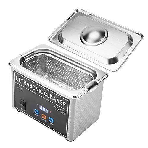 TMISHION Limpiador Ultrasónico Profesional CJ-008 de Alta frecuencia para la Limpieza, Limpiador de ultrasonidos de Relojes a Mano Joyas,llaveros,navajas, Certificación CE FCC ROHS(EU)