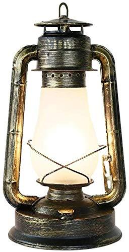 Aaedrag Schreibtischlampe amerikanische landwirtschaftliche Antike Metall Schreibtischlampe Nostalgie Glas Laterne Kerosene Tischleuchte Retro Altertümlich Barn Wein Kiln Cafe Bar Warehouse Eisen Lese