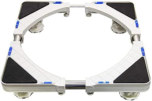 TabloKanvas Máquina Soporte de Pedestal Soporte para refrigerador Soporte con 4 Patas Lavadora Pedestales y Marcos (Color : Black)