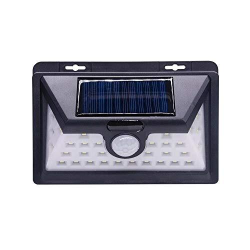All Shop - Lámparas LED solares de exterior para jardín, foco fotovoltaico con sensor de luz
