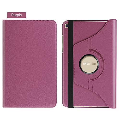 QiuKui Tab Funda para Samsung Galaxy Tab A 8.0 SM- T295 T290 T297, Funda giratoria de 360 Grados PU de Cuero de PU para la pestaña Galaxy A 8 2019 (Color : Purple Rotating)