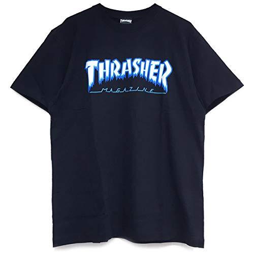 TH81226 Tシャツ THRASHER アイスロゴ (BLACK, L)
