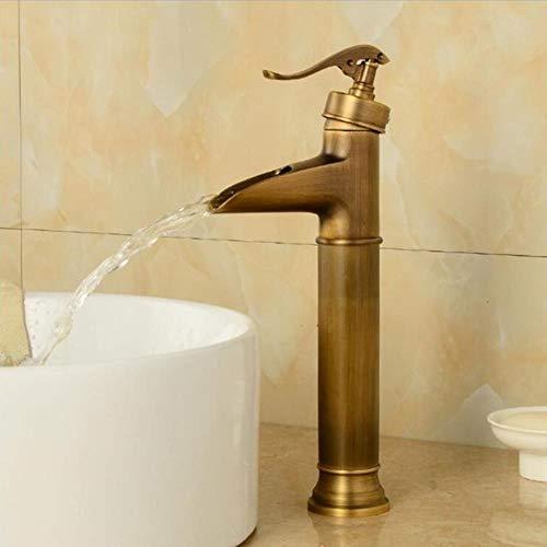 Nuevo grifo de lavabo de la vendimia de la cascada de níquel mezclador cascada grifo de lavabo de baño del mezclador para lavabo Grifo de lavabo vanidad del grifo de los grifos, antiguo