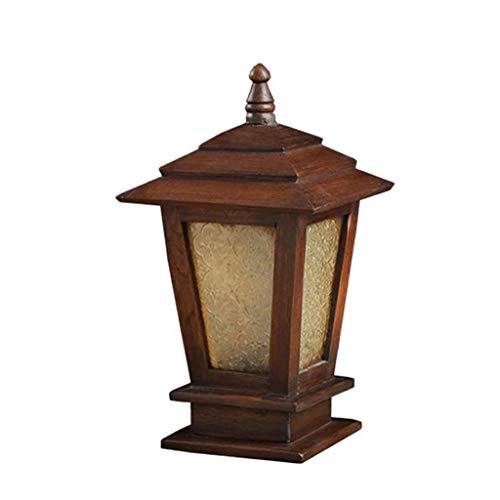 NXYJD Outdoor Lighting, Solid Wood Stigma Garden Lights, Landscape Garden Lighting, Rainproof Floor Lamp