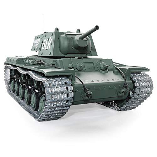 Leic553ht RC Panzer 1:16 Fernbedienung Militär Kampfpanzer Spielzeug Soviet KV - 1 s ,Schwerer Panzermit Geräuschen Rauch Aufnahme Effekt für 8+ Jahre alt