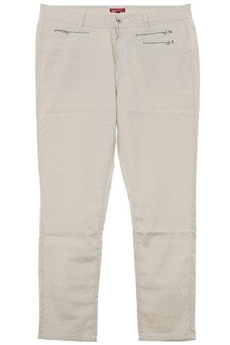 X-Two red Faune Hose Jeans Pants Damen Slim Fit Stretch Plusgröße Übergröße, Farbe:beige, Damengrößen:46