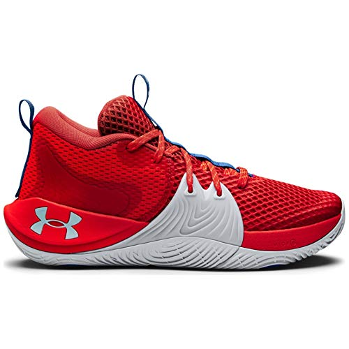Under Armour Men's Embiid 1 Basketball Shoe (Versa Red/Halo Grey, Numeric_9_Point_5)