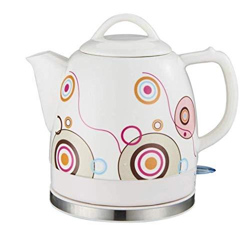 Gymqian Céramique Bouilloire Électrique Sans Fil Eau Teapot, Teapot-Retro 1.2L Jug, 1000W Rapide de L'Eau Pour Le Thé, Le Café Rapide accessoires de cuisine/A