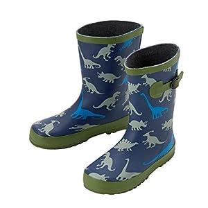 [ニッセン] ブーツ 靴(シューズ) キッズラバープリントレインブーツ ネイビー(恐竜) 18.0cm