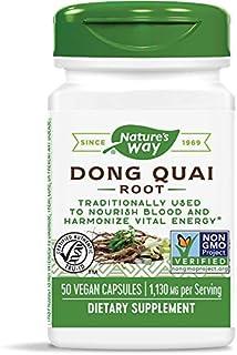 Nature's Way Dong Quai Root, 1,130 mg per Serving, Vegan, Non-GMO Project Verified, 50 Capsules