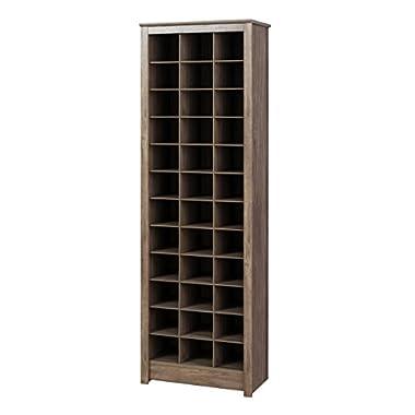 Prepac DUSR-0009-1 Cabinet, 36 pair Shoe Storage Rack, Drifted Gray
