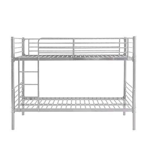 MUEBLIX | Literas Juveniles 90x190 | Estructura de Metal | Literas Juveniles Baratas con Escalera | Litera Doble | Modelo Alberto