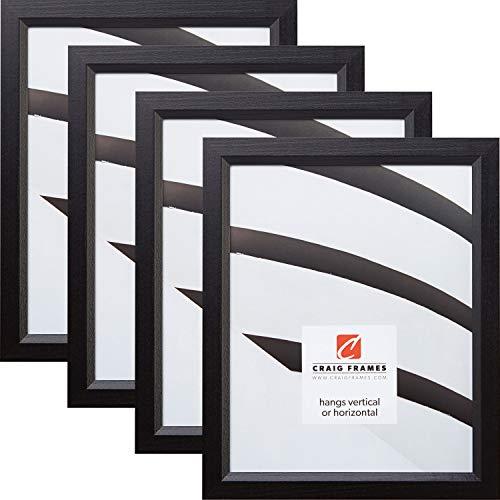 Craig Frames 7171610BK 14 x 18 Inch Picture Frame, Black, Set of 4