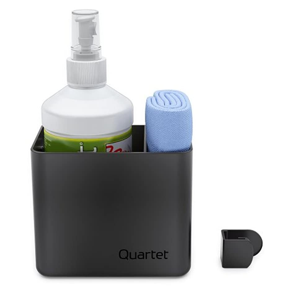 Quartet Prestige 2 Connects Spray Cleaner Caddy, 16 oz. Bottle and Magnetic Cloth (85376)