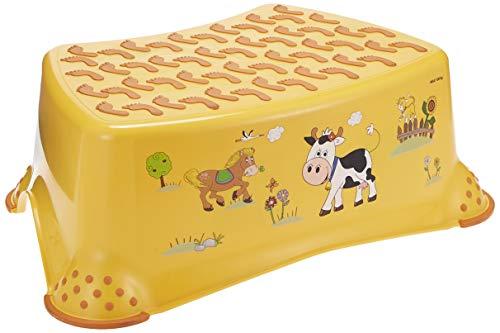 keeeper 18642456063 tomek 'funny farm' tritthocker mit anti-rutsch-funktion sunny apricot