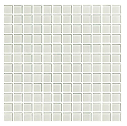 Mosaico enmallado de Cristal 30x30 cm. Color Blanco