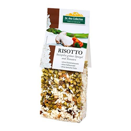 Dr. Ana Collection - Risotto Reis mit Steinpilzen und grünem Spargel Tomaten 200g (3 Beutel) - auch erhältlich als 1 bis 7 Beutel