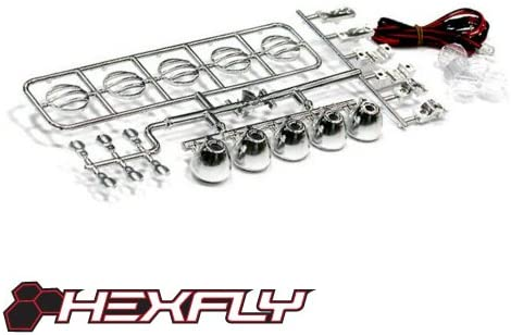 Redcat Racing Hexfly HX LED 002 Crawler Led Light bar Set with 5 Spotlights Chrome product image