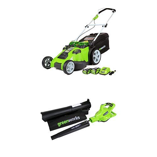 Best Price Greenworks 20-Inch 40V Twin Force Cordless Lawn Mower with 40V 185 MPH Variable Speed Cor...