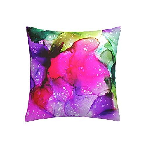 RETRUA Fundas de cojín con patrón de mármol colorido para el hogar, decoración para sala de estar, dormitorio, sofá silla, 45 x 45 cm