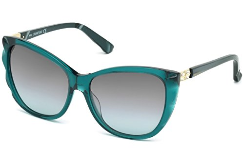 Swarovski - FORTUNATE SK0117, Cat eye, acetato, mujer, TRANSPARENT PETROLEUM/GREY AZURE SHADED(96F), 57/15/140