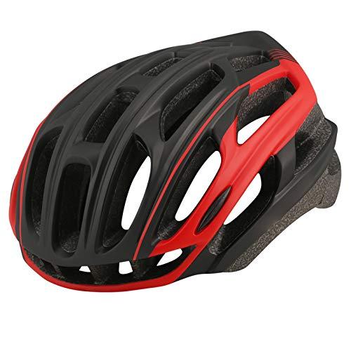 HVW Adultos Bicicletas para Bicicletas Cascos, Cascos De Montaña Cascos con Alumno De Seguridad Luz Trasera De Una Pieza Moldeado De Una Pieza Tamaño Ajustable Unisex Protected Cycle Casco,E