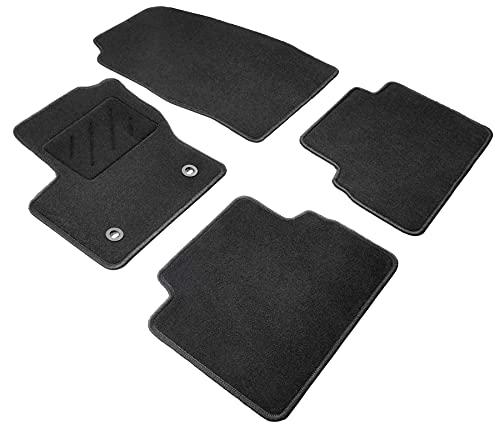 WALSER Tapis de sol en velours feutre aiguilleté compatible avec Ford C-Max II 04/2010-auj., Ford Grand C-Max 12/2010-auj.