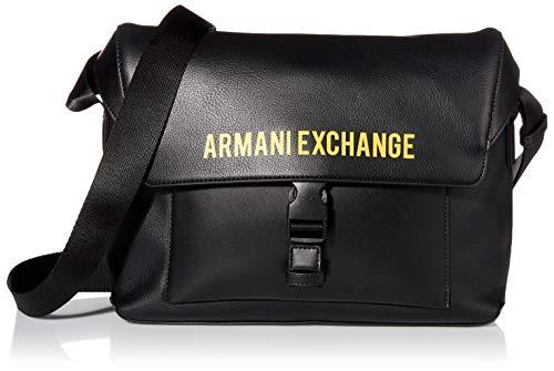 Armani Exchange AX Messenger-Tasche mit Logo-Schnalle.