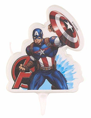 Generique - Vela cumpleaños Capitán América