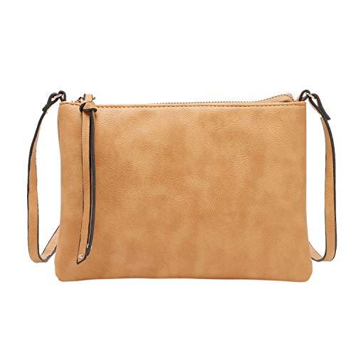 FORU Official StoreNBO Borse donna messenger bag PU shell bag nabuk piccola borsa a tracolla borsa donna borsa #F-in Top,Giallo, (A tinta unita), Taglia unica