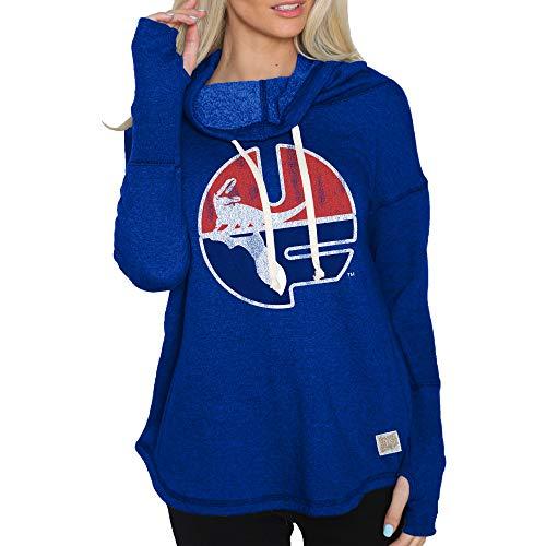 Elite Fan Shop Florida Gators Womens Funnel Neck Sweatshirt - X-Large - Blue