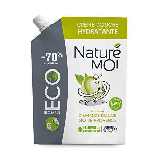 Naturé Moi - Eco recharge crème douche hydratante à l'extrait d'amande douce bio de Provence - Hydrate et nourrit les peaux normales à sèches - 400 ml
