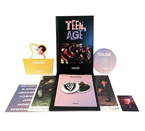 SEVENTEEN 2nd Album - TEEN, AGE [RS Ver.] CD + Photo Book + Photo Card + Folding Poster(ON PACK) + Lyrics Paper + Name Sticker + Portrait Desktop Stand + FREE GIFT / K-POP Sealed
