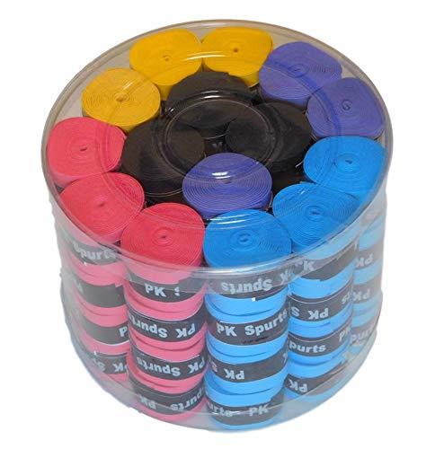 【丸喜明商店】グリップ テープ ドライ 5 色 30 個 セット お徳用 テニス バドミントン ゴルフ 釣り ハンドル (5色 60個)