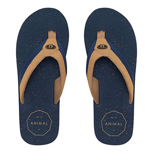 Animal Mens Huxley Flip Flops Dark Navy FM9SQ012 Mens Footwear Size - 8