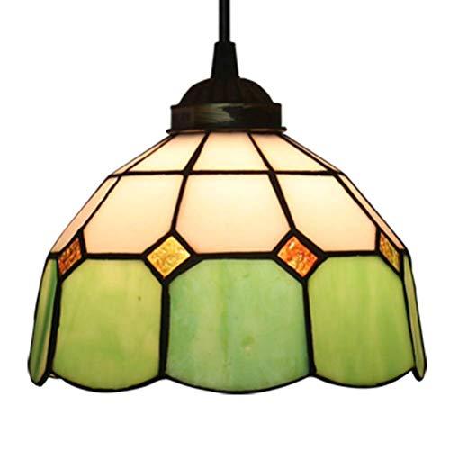 TYJIAJU Retro Pendiente de la Luz Creativa Sala Comedor Dormitorio Estudio de la Lámpara de Cristal de Buena Calidad con Altura Ajustable Decorativo Colgantes Titular de la Lámpara