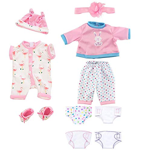 Odoukey Clothes 18 Inch Girl Bird Pattern Footed Pajamas Fashion Dolls...
