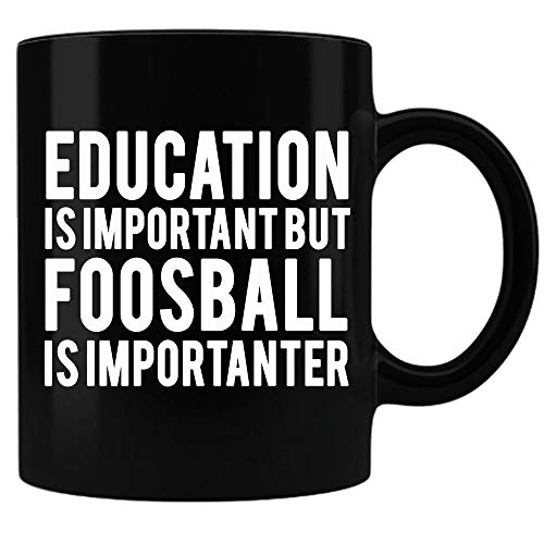 Taza de futbolín, regalo de futbolín, regalo para futbolín, regalo para hombres y mujeres