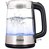 Zeppoli Electric Kettle - Glass Tea Kettle (1.7L) Fast...