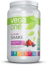 Vega One All-In-One Nutritional Shake Berry (20 Servings) - Plant Based Vegan Protein Powder, Non Dairy, Gluten Free, Non GMO, 30 Ounce (Pack of 1)