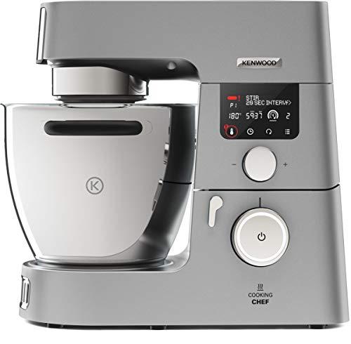 Kenwood KCC9040S Cooking Chef Gourmet Robot de Cuisine, 1500 W, Induction 20–180 °C, Capacité de 6,7 L, 1,6 L Thermoresist Mix Embout de Verre