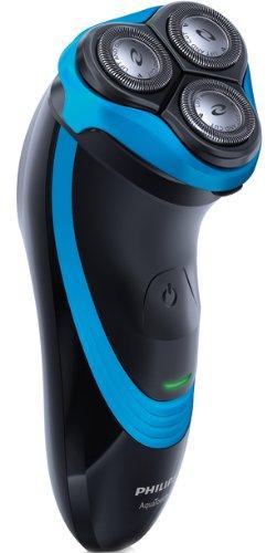 Philips AquaTouch AT750 - Afeitadora (Batería, Ión de litio, Rotación, Negro, Azul,...