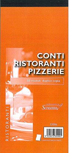 20Konten Restaurant und Pizzerien Block von 50nummerierte