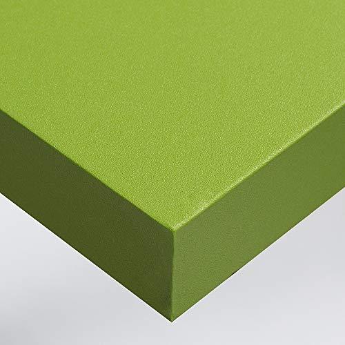 Dimexact Papel Pintado Adhesivo de Vinilo Coloreado para Paredes y Muebles, Verde Manzana Mate, Anchura 1,22 m, en Rollo